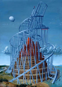 Selivanov V. / The second tower of babel / board / oil / 1995-2005