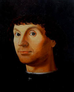 "Selivanov V. / Copy from Antonello da Messina ""Portrait of a Man"" / board / oil / 1992"