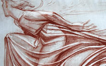 "Selivanov V. / Drawing ""Peace"" to L. N. Tolstoy monument / red chalk / 2013"
