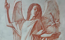 Selivanov V. / Angel of the Annunciation / red chalk / 2020