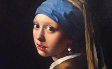 "Anfilova E. / Copy from Jan Vermeer ""Girl with a pearl earring"" / canvas / oil / 2007"
