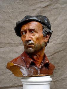 Selivanov V. / Portrait of N. A. Selivanov / tinted gypsum / 1990
