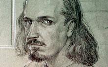 Селиванов В. / Автопортрет / уголь / мел / 2005