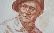 Selivanov V. / Portrait of a father / red chalk / 2008