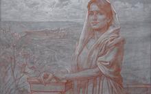 Селиванов В. / Анфилова Е. / Картон к живописи / сангина / 2008