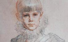 Анфилова Е. / «Портрет со шпагой» / уголь / сангина / 1999