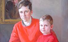 Anfilova E. / Grandchildren of the pilot / canvas / oil / 2005
