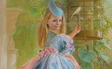 Anfilova E. / Girl with a parrot / canvas / oil / 2005
