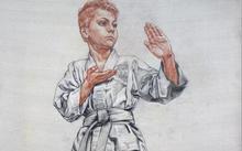 Селиванов В. / Андрей. Спортсмен айкидо / сангина / уголь / 2005