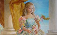 Anfilova E. / Girl with a mask / canvas / oil / 2005