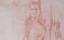 Селиванов В. / Анфилова Е. / Картон к живописному портрету. Наталия / сангина / 2006