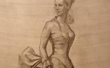Селиванов В. / Девушка в бальном платье / графит / 2008