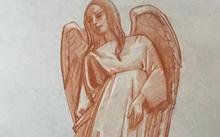 Селиванов В. / Созерцающий ангел / сангина / 2020
