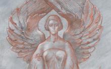 Селиванов В. / Берегиня / сангина / графит / 2009