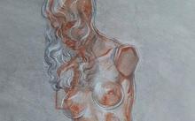 Selivanov V. / Bronze in glass / red chalk / black chalk / 2009