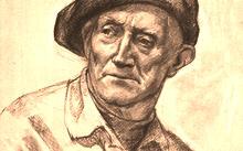 Селиванов В. / Портрет отца / сангина / 2008