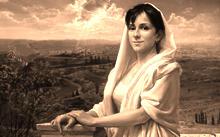 Анфилова Е. / Портрет Ольги Жуковой на фоне Иерусалима / холст / масло / 2004