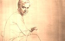 Селиванов В. / Дама в сапогах и с сигаретой / графит / 2009