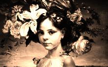 Anfilova E. / Girl with a wreath / canvas / oil / 1999