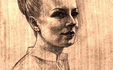 Селиванов В. / Ирина / графит / сангина / 2009